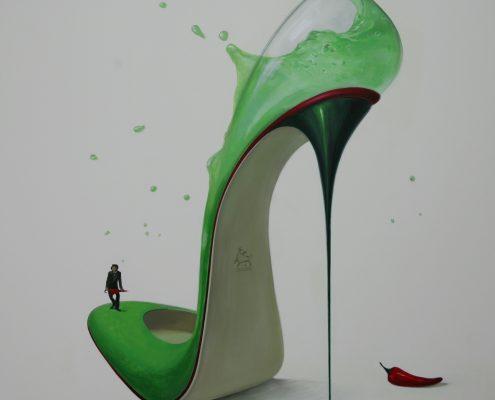 """140 x 140 cm """"Hot Margarita"""" 2011"""