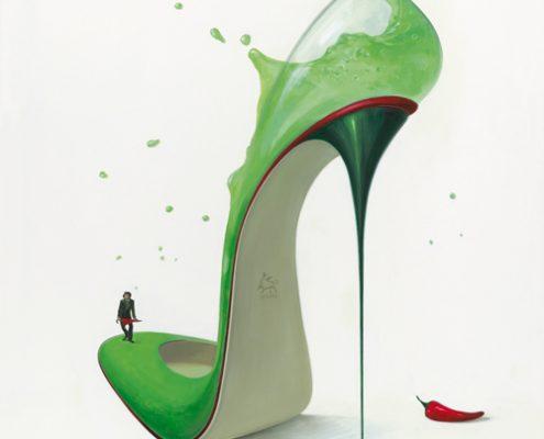 140 x 140 cm Hot Margarita 2011