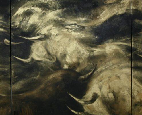 140 x 420 cm La borrasca IV 2009