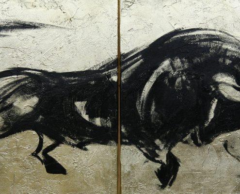 70 x 140 cm Caarbon y oro II 2009