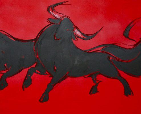 80 x 200 cm Pamplona roja I 2009