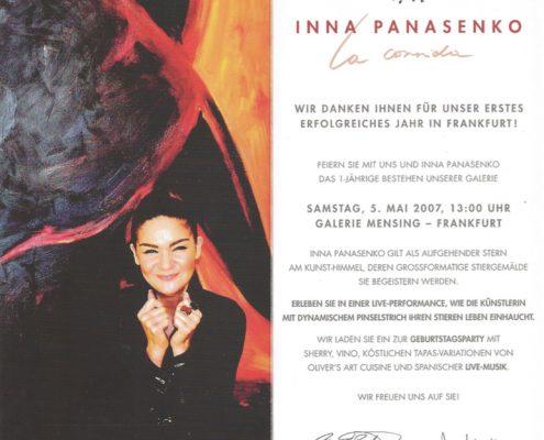 Einladung Ausstellung Frankfurt Einladung 2007